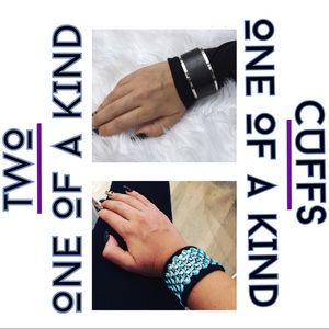 Handmade suede/leather arm cuffs